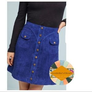 Anthropologie Skirts - NWT! [ Anthropologie ] Button Front Mini Skirt 14